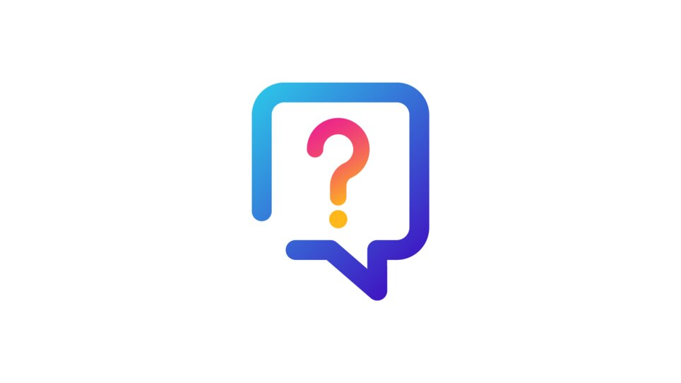 Speech-bubble question icon