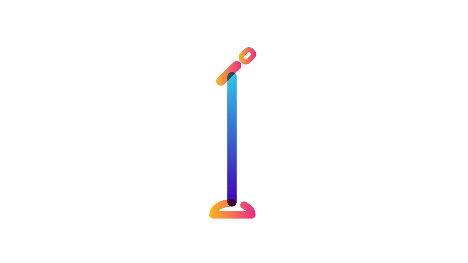 microphone stand icon
