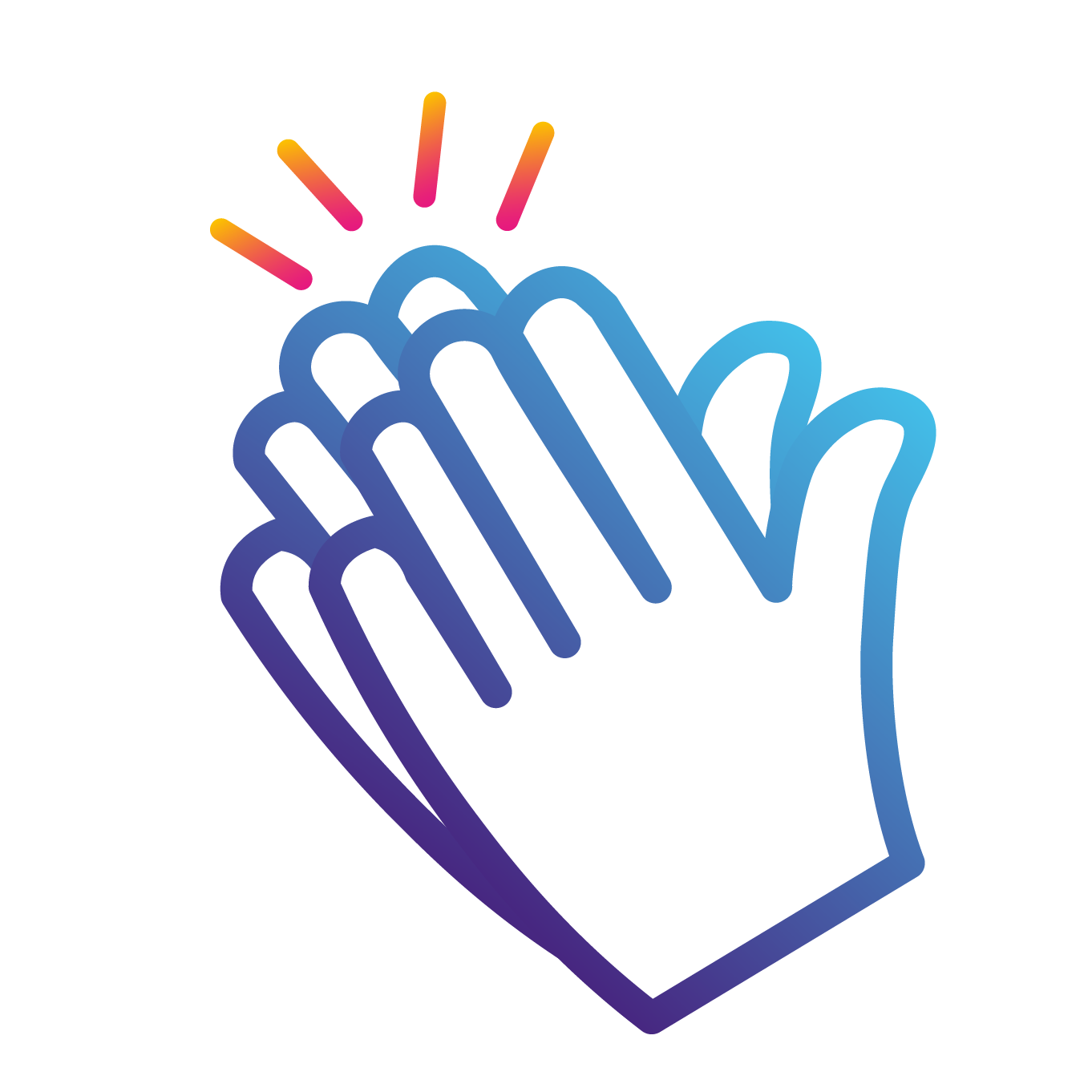 hands clapping icon