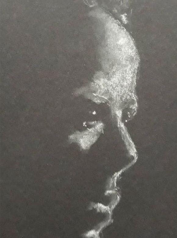 Chalk portrait artwork