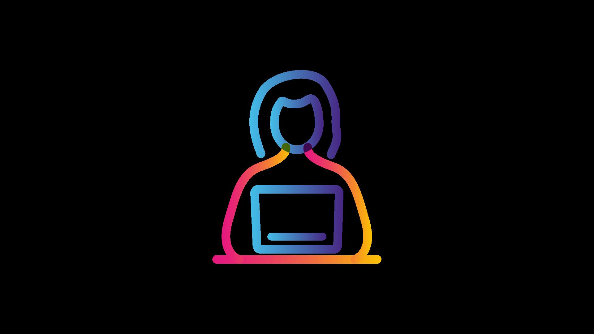 woman on laptop icon